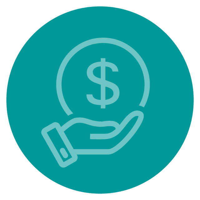 Financial Donation Icon